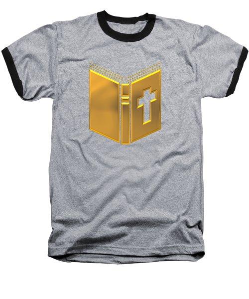 Golden Holy Bible Baseball T-Shirt