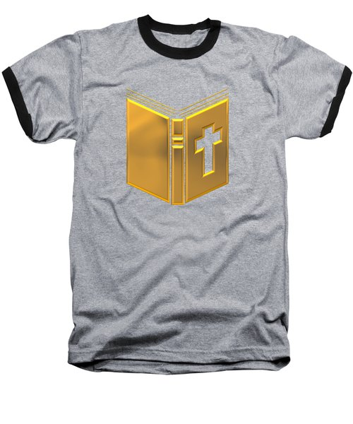 Golden Holy Bible Baseball T-Shirt