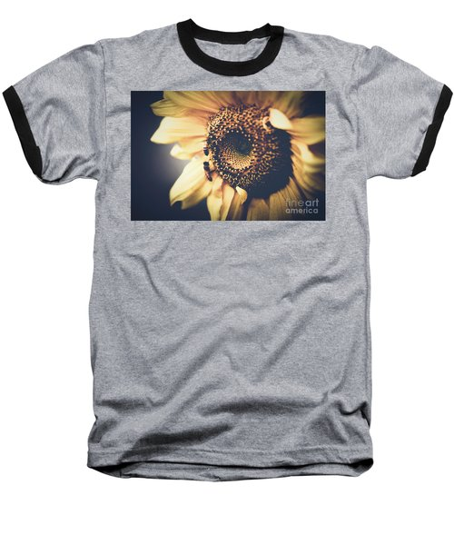 Baseball T-Shirt featuring the photograph Golden Honey Bees And Sunflower by Sharon Mau