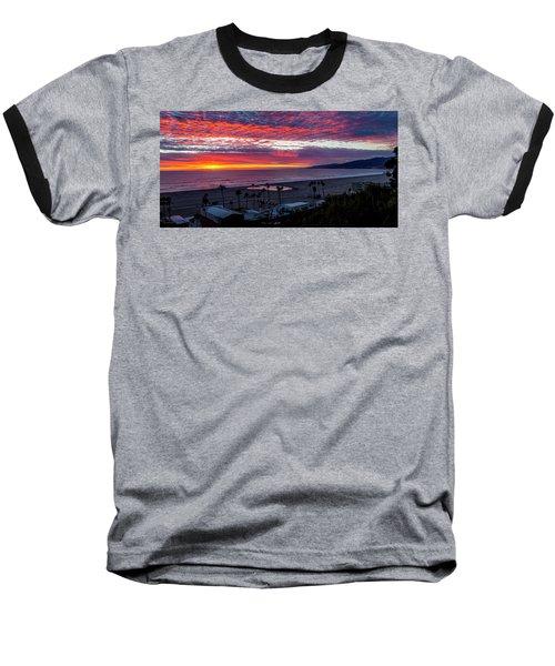 Golden Horizon At Sunset -  Panorama Baseball T-Shirt