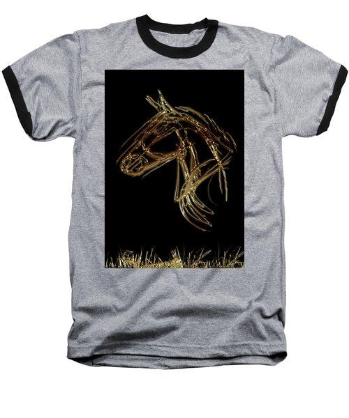 Golden Horse Baseball T-Shirt