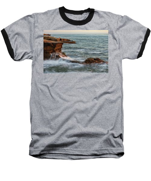 Golden Hour At Sunset Cliffs Baseball T-Shirt