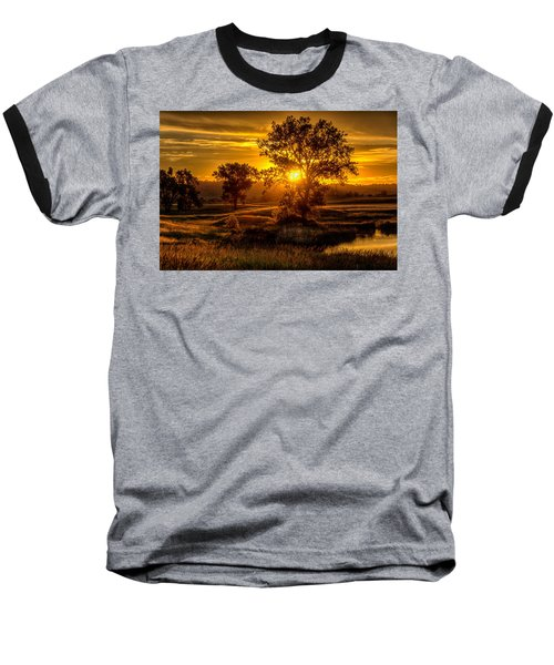 Golden Hour Baseball T-Shirt by Fiskr Larsen