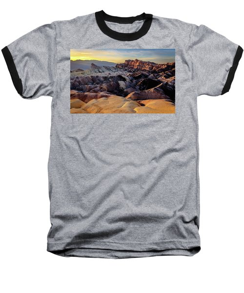 Golden Hour Light On Zabriskie Point Baseball T-Shirt