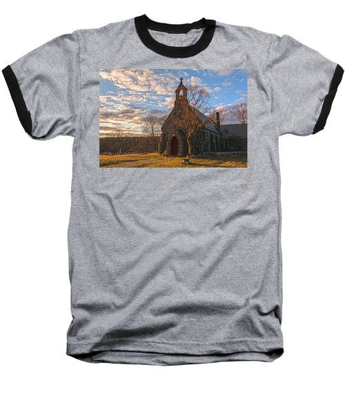 Golden Hour Prayer Service Baseball T-Shirt by Angelo Marcialis