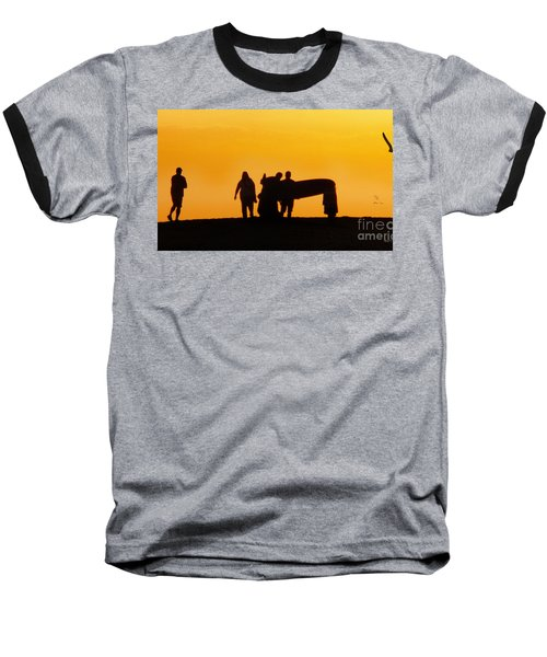 Baseball T-Shirt featuring the photograph The Golden Hour by Rhonda Strickland