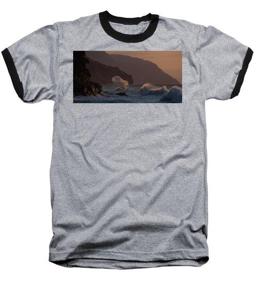 Golden Hour Wave Baseball T-Shirt