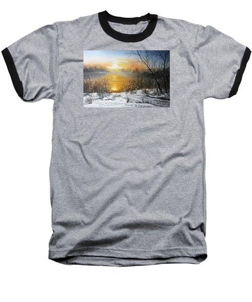 Golden Lake Sunrise  Baseball T-Shirt