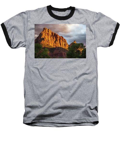 Golden Light On Watchman - Zion Baseball T-Shirt