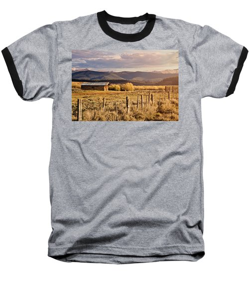 Baseball T-Shirt featuring the photograph Golden Lonesome by Lana Trussell