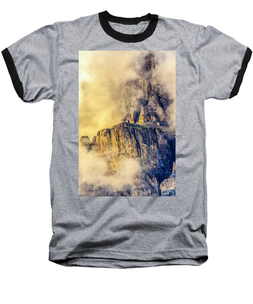 Golden Mist On Cathedral Mountain Baseball T-Shirt
