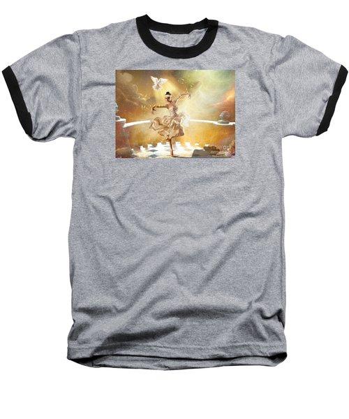 Golden Moments Baseball T-Shirt by Dolores Develde
