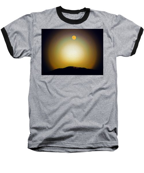 Golden Moon Baseball T-Shirt by Joseph Frank Baraba