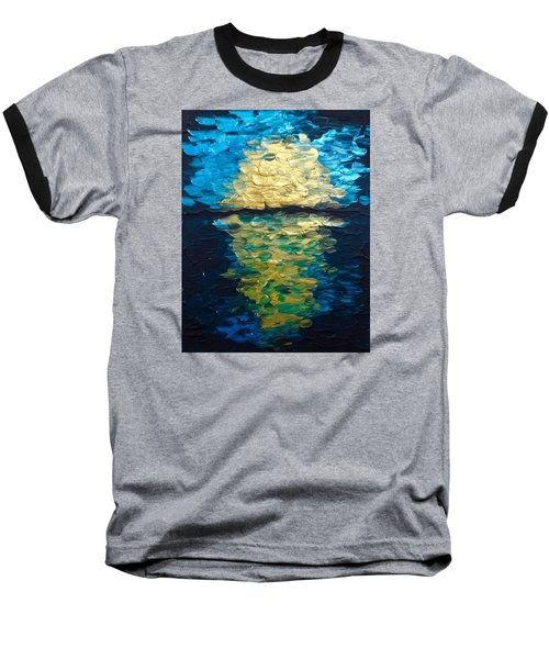 Golden Moon Reflection Baseball T-Shirt