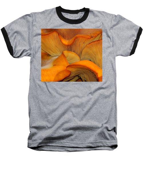 Golden Mushroom Abstract Baseball T-Shirt