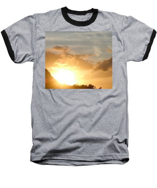 Golden Oahu Sunset Baseball T-Shirt