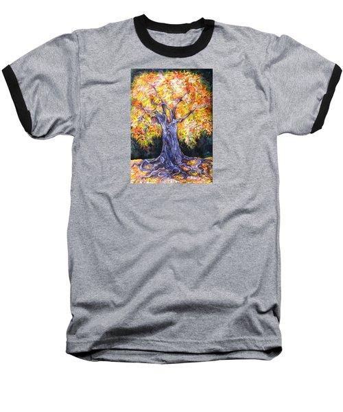 Baseball T-Shirt featuring the drawing Golden Oak by Anna  Duyunova