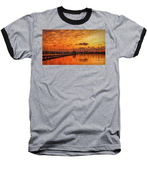 Golden Orange Sunrise Baseball T-Shirt