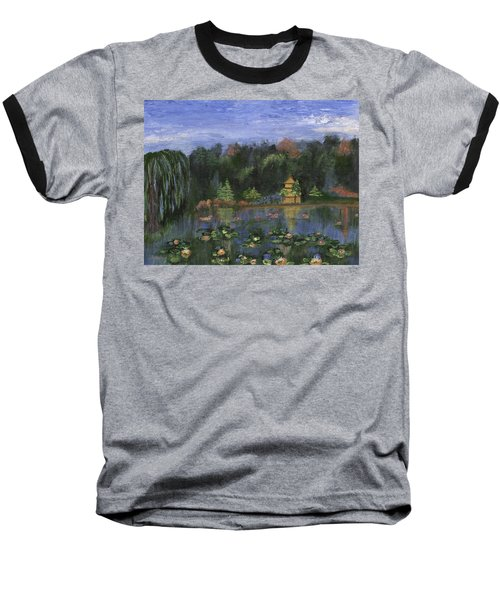 Baseball T-Shirt featuring the painting Golden Pagoda by Jamie Frier