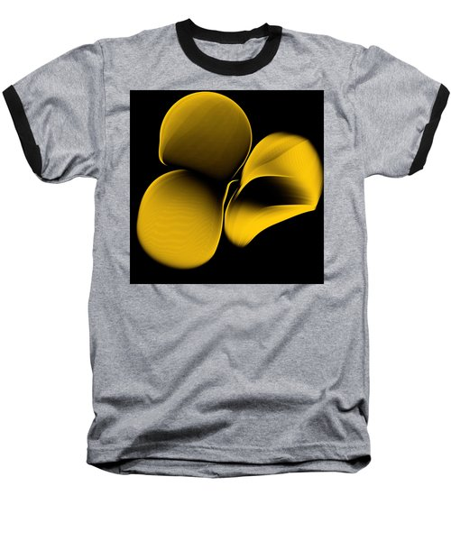 Golden Pantomime Baseball T-Shirt by Danica Radman