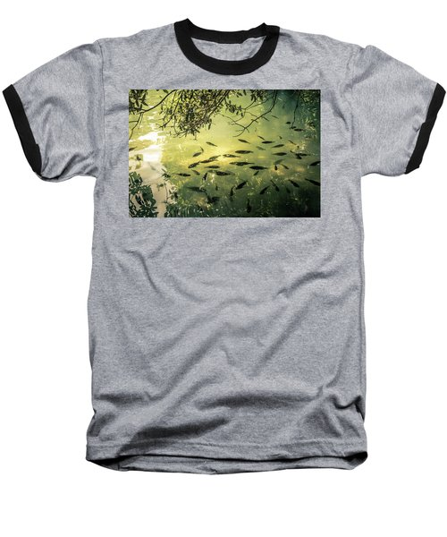 Golden Pond With Fish Baseball T-Shirt