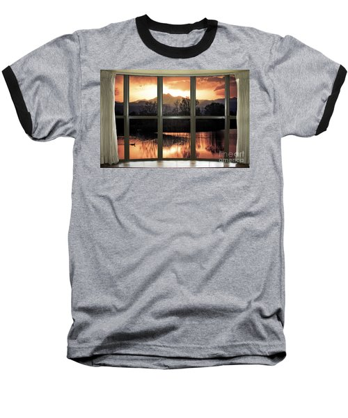 Golden Ponds Bay Window View Baseball T-Shirt