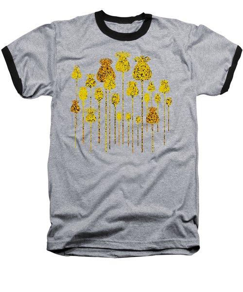 Golden Poppy Heads Baseball T-Shirt