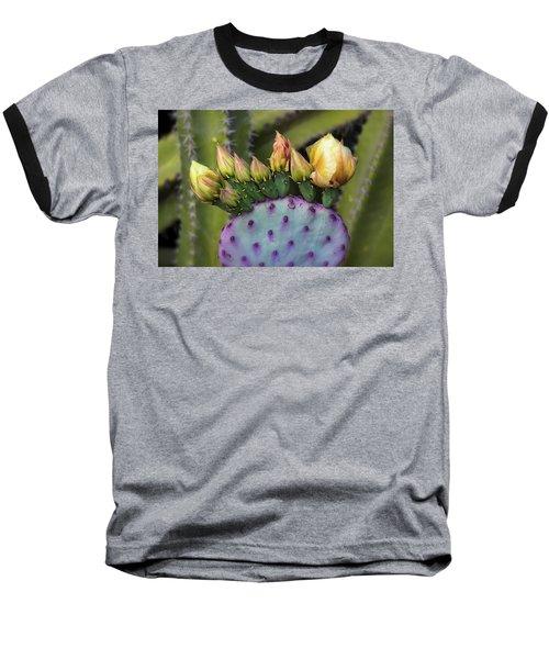 Baseball T-Shirt featuring the photograph Golden Prickly Pear Buds  by Saija Lehtonen