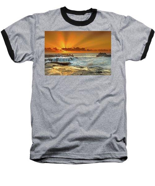 Golden Rays Baseball T-Shirt by James Roemmling