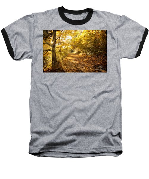 Golden Rays Of Autumn Baseball T-Shirt
