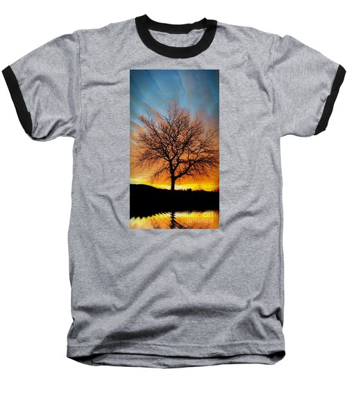 Golden Reflection Baseball T-Shirt by Dan Stone