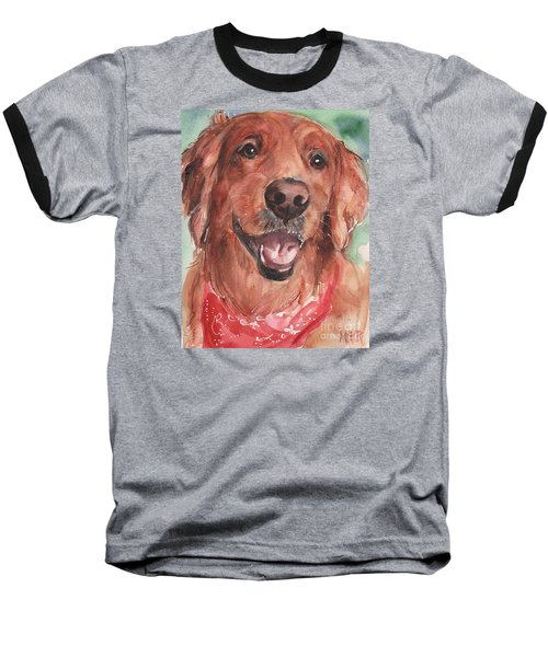 Golden Retriever Dog In Watercolori Baseball T-Shirt