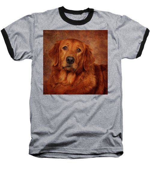 Golden Retriever Baseball T-Shirt by Greg Mimbs