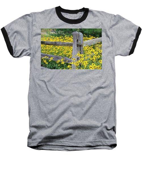 Golden-rod  Crowd Out Baseball T-Shirt