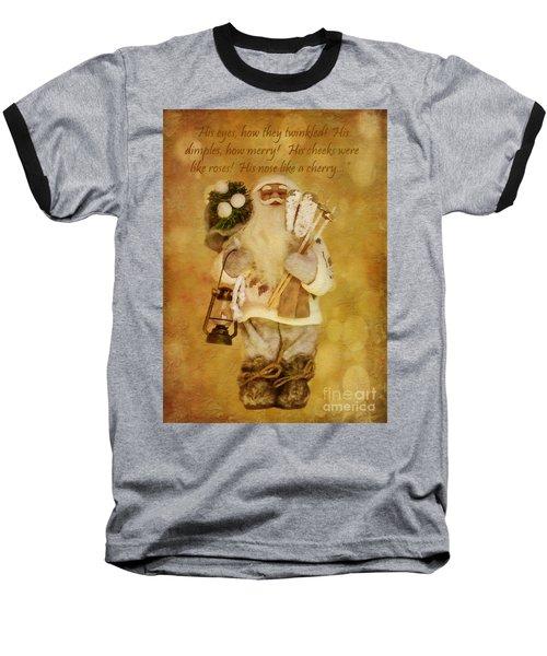 Golden Santa Card 2015 Baseball T-Shirt