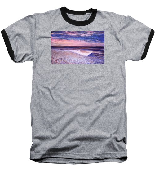 Golden Sea Baseball T-Shirt by Jeanette Jarmon