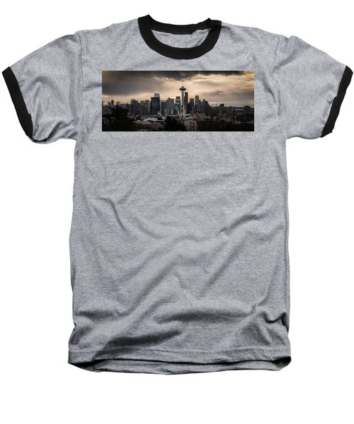 Baseball T-Shirt featuring the photograph Golden Seattle by Chris McKenna