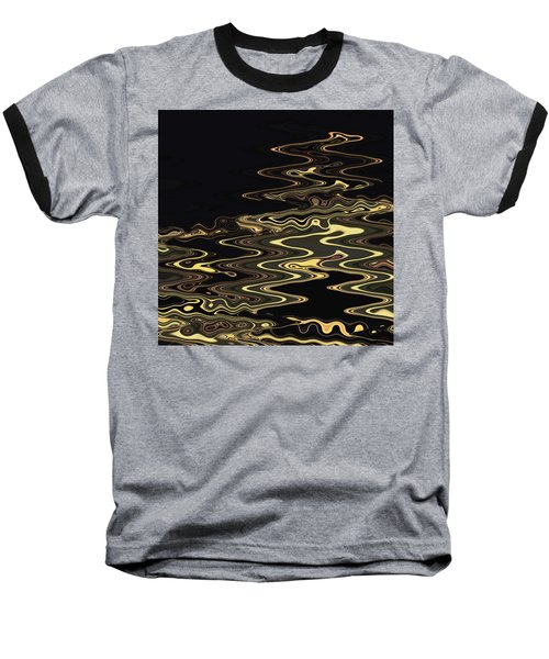 Golden Shimmers On A Dark Sea Baseball T-Shirt