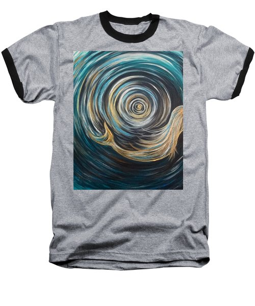Golden Sirena Mermaid Spiral Baseball T-Shirt