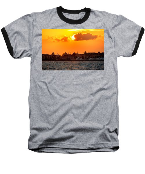 Golden Sky In Cancun Baseball T-Shirt