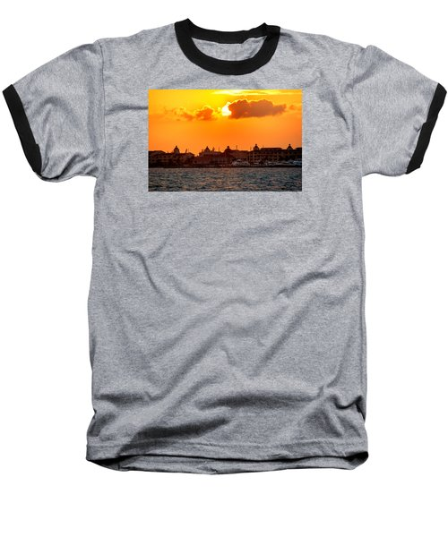 Golden Sky In Cancun Baseball T-Shirt