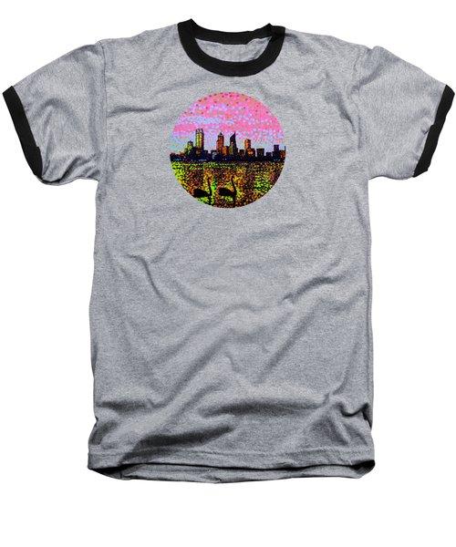 Golden Skyline Perth Baseball T-Shirt by Alan Hogan