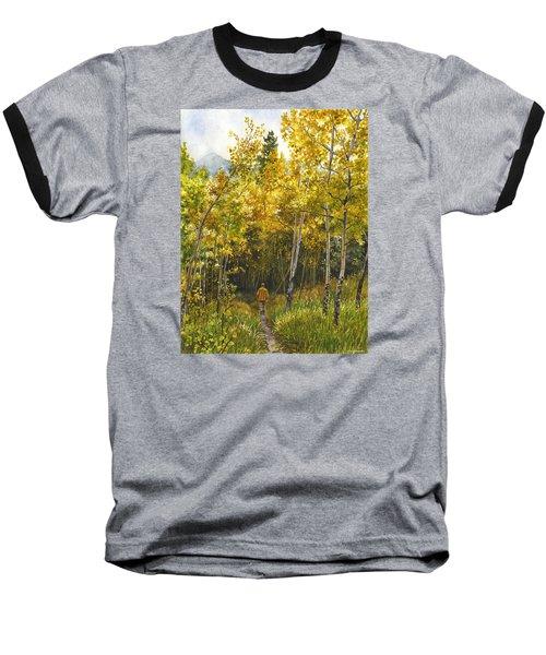 Golden Solitude Baseball T-Shirt by Anne Gifford