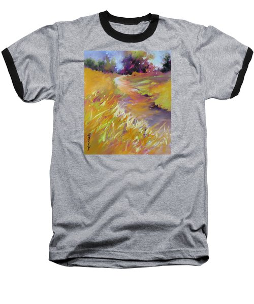 Baseball T-Shirt featuring the painting Golden Splendor by Rae Andrews