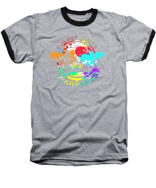 Golden State Warriors Pop Art Baseball T-Shirt