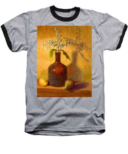 Baseball T-Shirt featuring the painting Golden Still Life by Joe Bergholm
