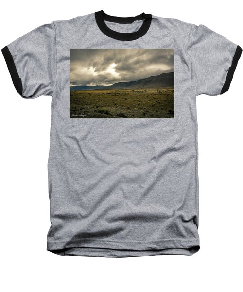 Baseball T-Shirt featuring the photograph Golden Storm by Andrew Matwijec