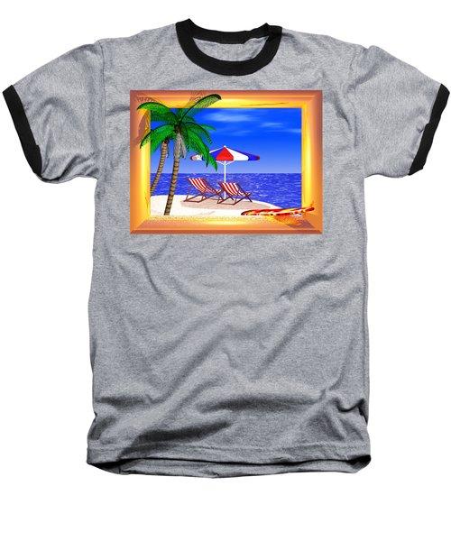 Golden Summer Baseball T-Shirt by Andreas Thust