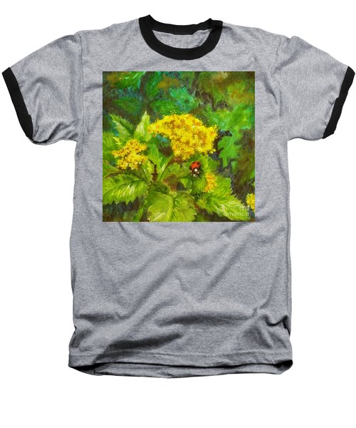 Golden Summer Blooms Baseball T-Shirt