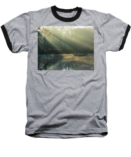 Baseball T-Shirt featuring the photograph Golden Sun Rays by George Randy Bass